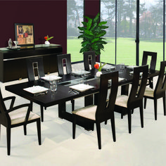Black dining room table – Why you should buy one Large Square Dining Table, Black Dining Room Table, Modern Dining Table, Extendable Dining Table, Black Table, Cheap Dining Room Sets, Dining Table In Kitchen, Contemporary Dining Room Sets, Dining Room Furniture