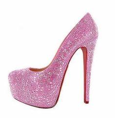 Pink glitter high heels