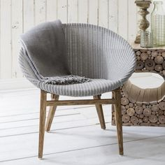 Hudson Living Lloyd Loom Tub Chair Light Grey - Hudson Living from House of Isabella UK Wicker Furniture, Accent Furniture, Bedroom Furniture, Outdoor Furniture, Modern Furniture Online, Shop Interiors, Occasional Chairs, Tub Chair, Loom