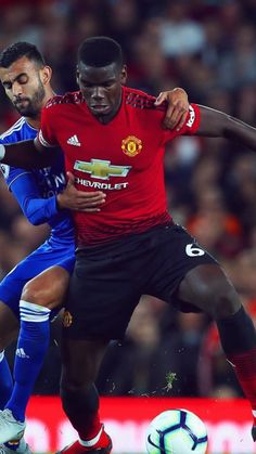 """I don't think there is a book called 'How to be a leader'. You are either a leader on the pitch and off the pitch or you are not. Premier League Champions, Paul Pogba, Manchester United Football, Professional Football, Old Trafford, Europa League, Pitch, My Idol, Beautiful Men"