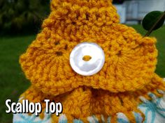 Mommy Made Crochet: Bobble or Scallop Towel Top - free crochet pattern.