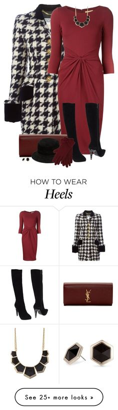 """Gloves and Hat"" by daiscat on Polyvore featuring moda, Moschino, Michael Kors, Yves Saint Laurent, Fabi, Alexander Wang, M&Co, Charlotte Russe y Principles by Ben de Lisi"