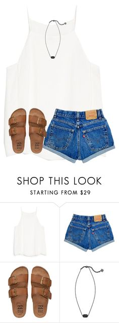 """yeah it was in the 80s today"" by ponyboysgirlfriend ❤ liked on Polyvore featuring MANGO, Billabong and Kendra Scott"