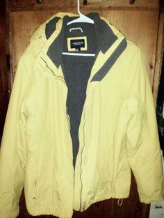 Lands' End Women's Hooded Squall Jacket Atlas Yellow Regular XL #LandsEnd #NylonFleeceJacket