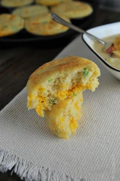 Cheddar Jalapeno Cornbread Muffins. It takes longer to type the name than to eat one. Promise.     I grew up with cornbread or biscuits on the table for supper just about every single night. That is probably where my addiction to bread originated, if the truth be known.  I always loved to watch