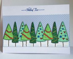 Gorgeous Christmas card by Wendy using inky doodles stamps