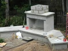 how to build an outdoor fireplace with cinder blocks - google ... - Patio With Fireplace Ideas