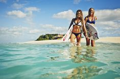 These ladies, Bethany Hamilton and Alana Blanchard, are having a Keiki Classic grom contest on Kauai this weekend!