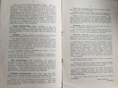 1926 Annual Report with details of the first Federation Fete at Bolesworth Castle
