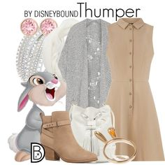 Thumper by leslieakay on Polyvore featuring Oasis, Vivienne Westwood Anglomania, Witchery, Vince Camuto, Swarovski, Charlotte Russe, Thumper, disney, disneybound and disneycharacter