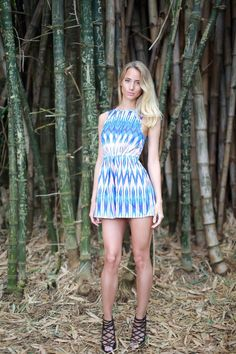 Anna Irene Gustafsson Swedish Fashion Blogger Sydney Swedish Blue Jumpsuit Playsuit Bamboo Model