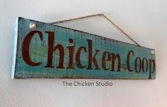 Chicken Coop Sign by TheChickenStudio on Etsy