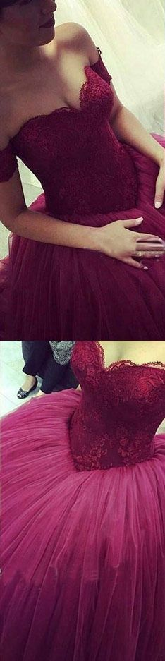Long prom dresses,Purple prom dresses, tulle prom dresses, A line prom dresses, prom dresses 2017, long prom dresses, 271092