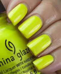 China Glaze Celtic Sun... I own this color and its one of my favorites!! Super bright in real life and great for nail art!