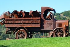 The Calistoga Mineral Water Truck with its canine co-pilot still resides at the company's former bottling plant in Napa Valley.