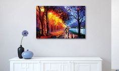 Add vibrant color to wall decor with these bright canvases by Leonid Afremov; comes ready to hang out of the box