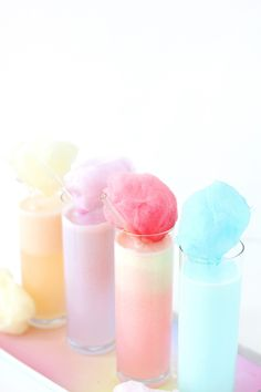 Bridal shower drink idea - DIY Pastel Cotton Candy Cream Soda for Parties {Courtesy of Aww, Sam} Cream Soda, Ice Cream, Yummy Drinks, Healthy Drinks, Juice Drinks, Detox Drinks, Cotton Candy Cocktail, Cotton Candy Drinks, Cotton Candy Party