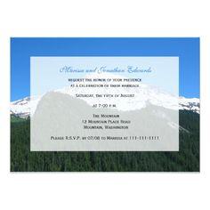 Mountain Wedding Reception Wedding Reception Only Invitation -- Mountain