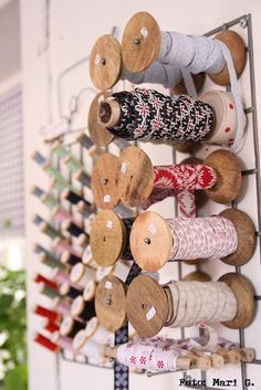 Vintage Spools and Vintage Trims....craft room style