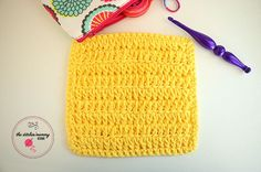 Let's Learn a New Crochet Stitch Pattern Kitchen Crochet Edition - Forked Half Double Crochet Stitch Tutorial and Dishcloth Pattern   www.thestitchinmommy.com