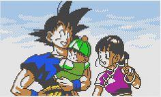 Goku's Family Portrait - Dragon Ball perler bead pattern