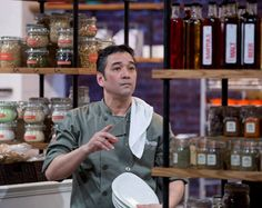 Chef Daryle searches for the perfect ingredients in our Chopped Canada pantry.