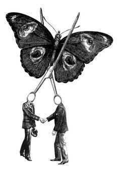 it represents the fragility of friendship. Once you get too close you can break something that can be beautiful. If you recede too far the beauty will fly away. The eyes on the butterflies wings symbolise the truth about the pain they have seen.