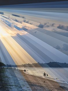 "For his series ""Time Is a Dimension,"" photographer Fong Qi Wei would set up his camera about an hour before dawn or dusk and then take numerous shots over the next 2 to 4 hours. Then he spliced the photos together in order to display the sun rising or setting in a single image…"