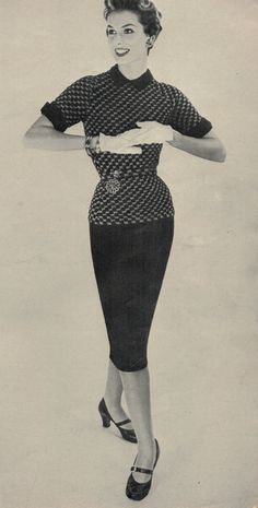 1954 Crochet Suit Pattern by betrunkepenguin on Etsy, $3.20