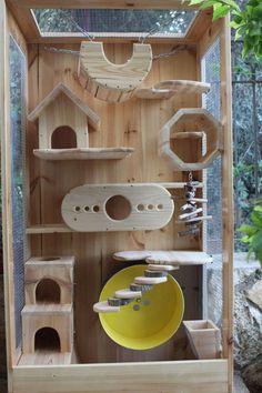 LenWood Wooden Chinchilla Cage