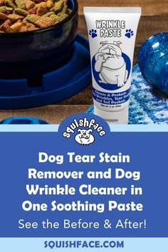 It's not your average dog wrinkle cream. It's an antibacterial & anti-fungal paste for tear stain removal, dog wrinkle cleaning & tail pocket cleaning. Clean clean dog tear stains, avoid dog wrinkle infections, tail pocket infections, dog yeast infections & keep dog skin irritation at bay. With the benefit of coconut oil for dogs, our safe & minimal ingredient dog wrinkle paste is a wonderful dog skin irritation remedy & a favorite bulldog wrinkle care product for dog skin problems… Tear Stain Removal, Dog Tear Stains, Wrinkly Dog, Pocket Dog, Coconut Oil For Dogs, Dog Grooming Tips, Dog Cleaning, Skin Irritation, Dog Eyes