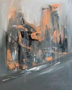 "Saatchi Art Artist Alexandra Elena; Painting, ""Your Downtown"" #art"