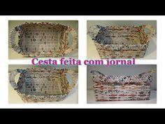 Como fazer cesta de jornal quadrada! - YouTube