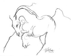 Locomotion Sketch | Spirit of Horse Art by Kim McElroy