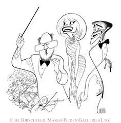 'boston pops with john williams, carol channing, and sammy davis jr' by al hirschfeld Boston Pops, Carol Channing, Sammy Davis Jr, Caricature Drawing, Celebrity Portraits, Black And White Portraits, Pen And Paper, Almost Always, My Childhood