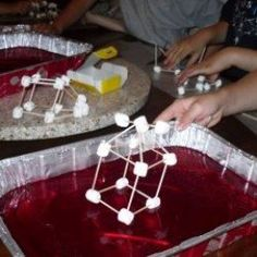 """Our """"civil engineer"""" children constructed buildings to withstand earthquakes using toothpicks, marshmallows, and pans of jello"""