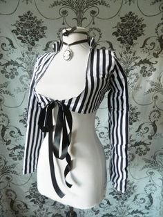 Antoinette steampunk Victorian circus stripe jacket-size small, ready to ship AS IS. $80.00, via Etsy.