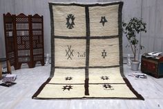Beni Ourain rug 6x10 Old berber Rug Teppich Beniourain vintage tribal Moroccan handwoven wool rug Boucherouites rugs