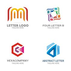 Free Logo Set – GraphicsFamily: Professional Logos, Illustrations, Mockups and Letter B, Letter Logo, Professional Logo, Free Logo, Logo Templates, Company Logo, Social Media, Illustrations, Logos