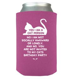 Cat Lady Can Koozie