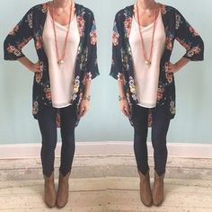 make use of your summer kimonos by wearing them with ankle boots and leggings or skinny jeans