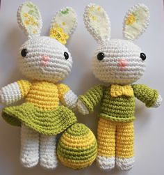 Amigurumi Easter Bunnies - Tutorial  ❥ 4U // hf