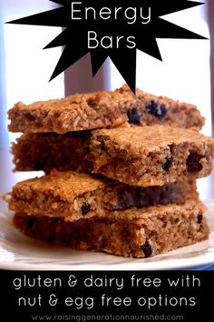 Energy Bars :: Gluten & Dairy Free with Nut and Egg Free Options - Raising Generation Nourished