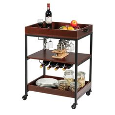 3 Tier Trolley Cart Kitchen Island Serving Bar Cart $89.95 + Free Shipping The industrial kitchen cart brings you convenient life experience!  Equipped with 4 rolling casters, it's easy to move in the kitchen.