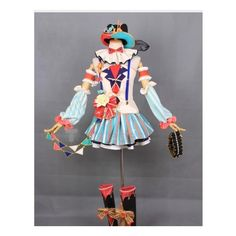 Love Live Circus Umi Nico Nozomi Kotori Honoka Hanayo Eli Rin Koizumi... ❤ liked on Polyvore featuring costumes, circus costumes, cosplay costumes, role play costumes, animal costumes and animal halloween costumes