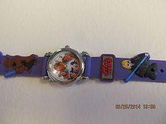 Star Wars Children Purple Cartoon PVC Band Quartz Wrist watch Toy 220
