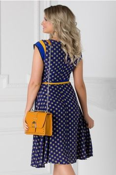 Rochie Isabel albastra cu floricele si cordon in talie Summer Dresses, Floral, Casual, Fashion, Moda, Sundresses, La Mode, Florals, Fasion