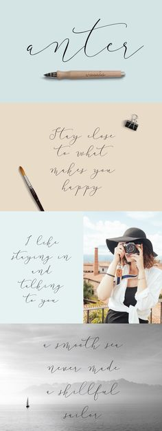 Anter is modern script font, every single letters have been carefully crafted to make your text looks beautiful. With modern script style this font will perfect for many different project ex: quotes, blog header, poster, wedding, branding, logo, fashion, apparel, letter, invitation, stationery, etc.