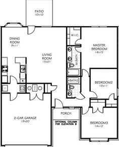 Nice plan. Just add a 3rd car garage, make rooms a bit larger and add corner fireplace in living room.