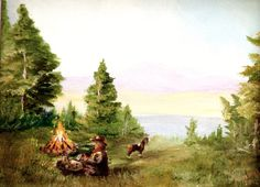 AngelBDesigns4You camping layout featured on treasury list: The Great Outdoors! by Catherine Goodwin on Etsy